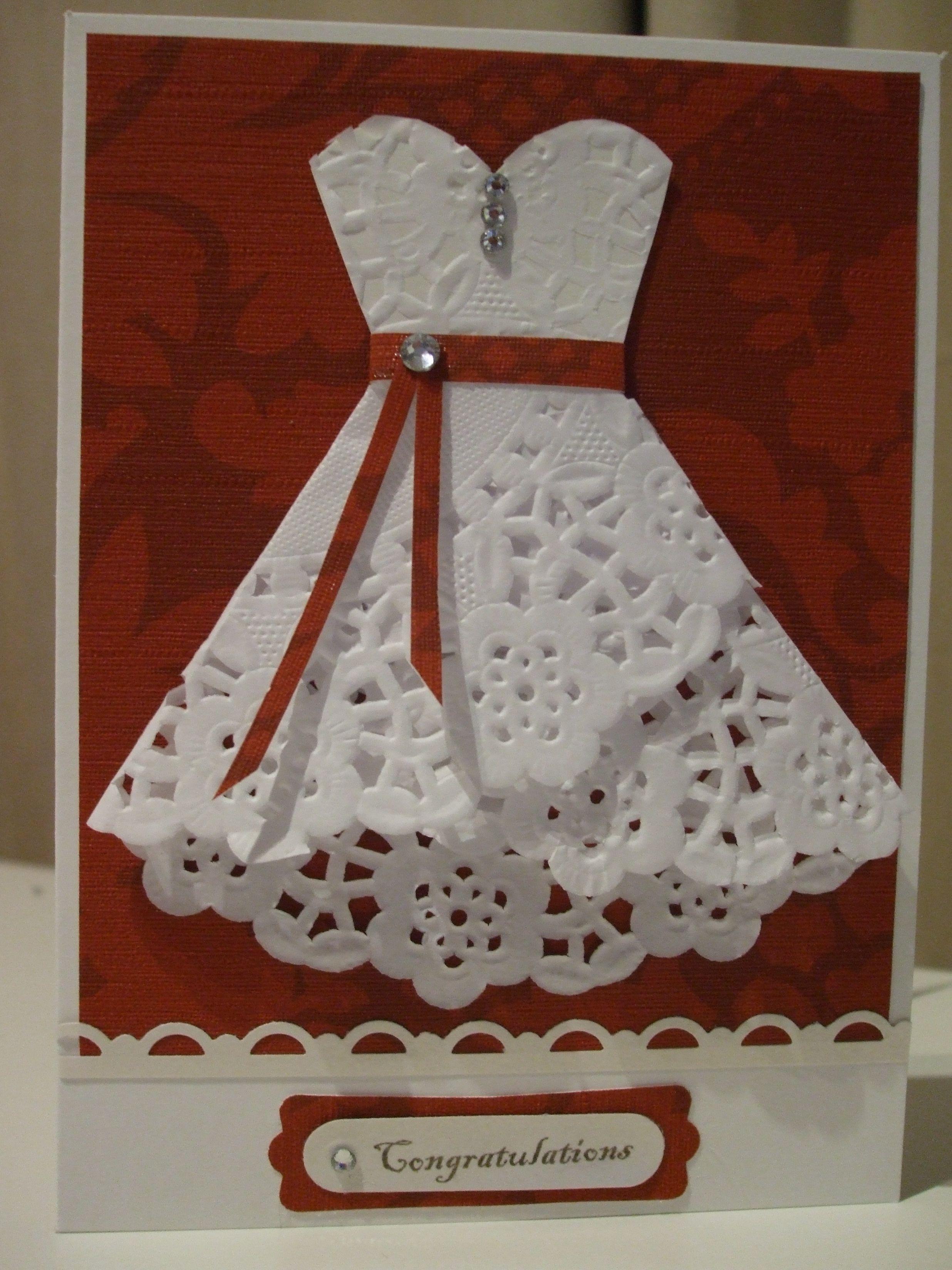Про картинки, платье из салфеток на открытку