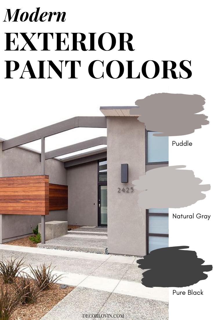 Modern Exterior Paint Combinations Combinations Exterior Homedecorexteriorcolorschemes Fassade Haus Haus Aussenfarben Hausfassade