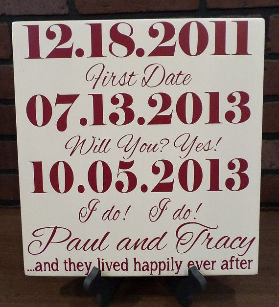 Important date sign, Personalized wedding, wedding gift, Anniversary Gift, Engagement gift, bridal shower gift