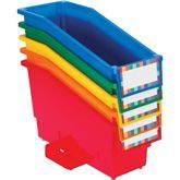 Durable Book And Binder Holders With Stabilizer Wing & Label Holder™ - 5-Pack Primary