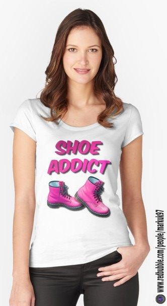 Shoe Addict Women's Fitted Scoop T-Shirts http://www.redbubble.com/people/markuk97/works/24030448-shoe-addict?asc=t&p=womens-fitted-scoop via @redbubble