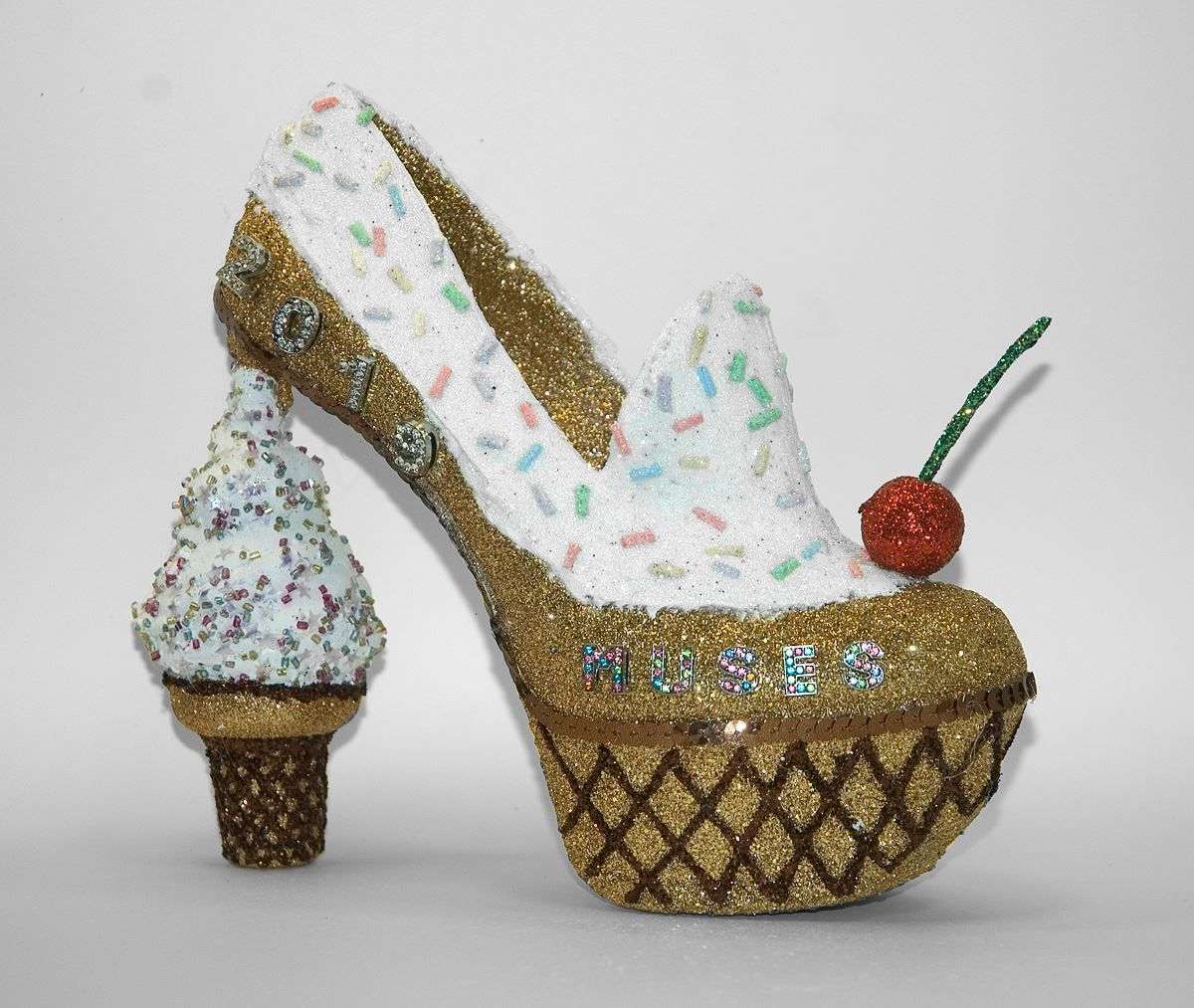 Ice Cream Cone Shoe By Muses Shoes By Ani Krewe Of Muses 2019 Muses Shoes Glitter Shoes Feet Accessories