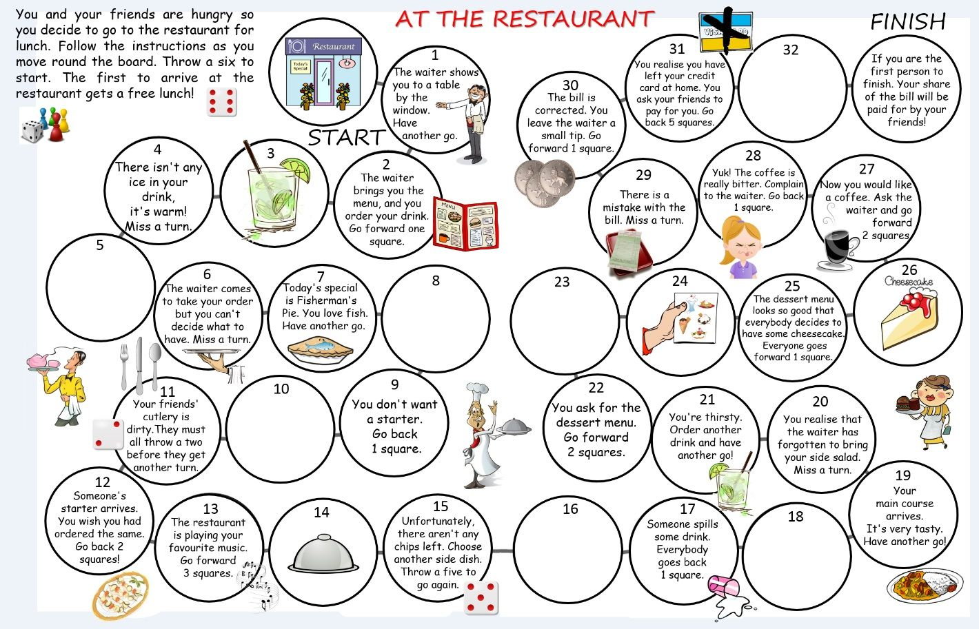 Image Result For Worksheets For Restaurant Lesson Plan