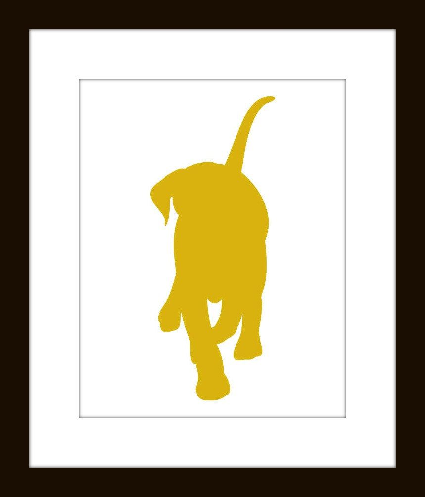 Labrador Retriever Silhouette Wall Decor 8 x 10 size Matted to 11 ...