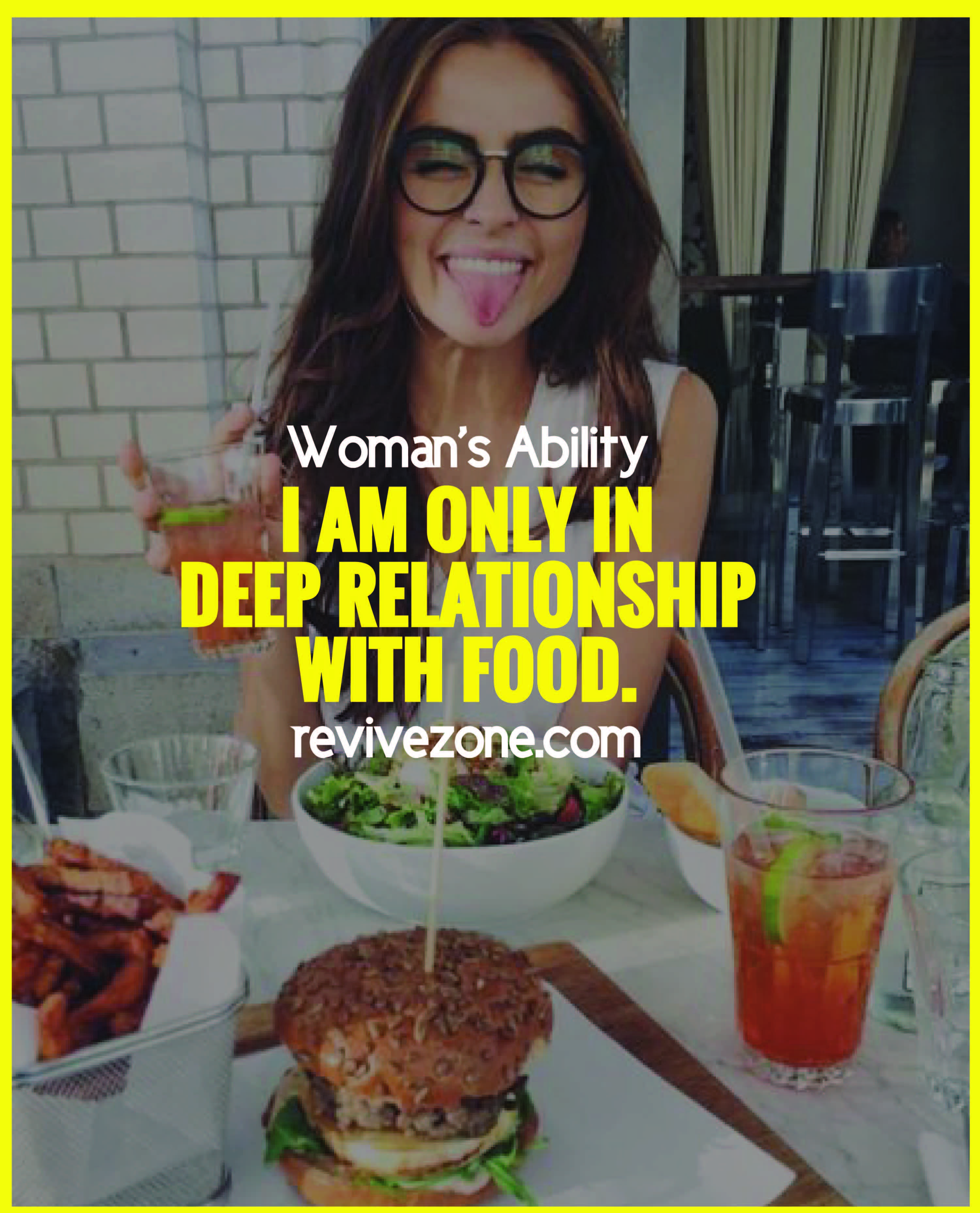Foodie Food Lover Food Quote Happy Revivezone Woman S Ability Food Lover Quotes Food Lover Quote Food Captions