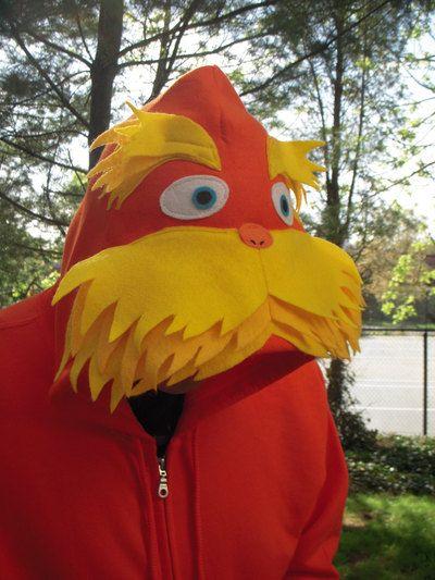 Dr Seuss Inspired LORAX Hoodie for Adults Dr Seuss Pinterest - dr seuss halloween costume ideas