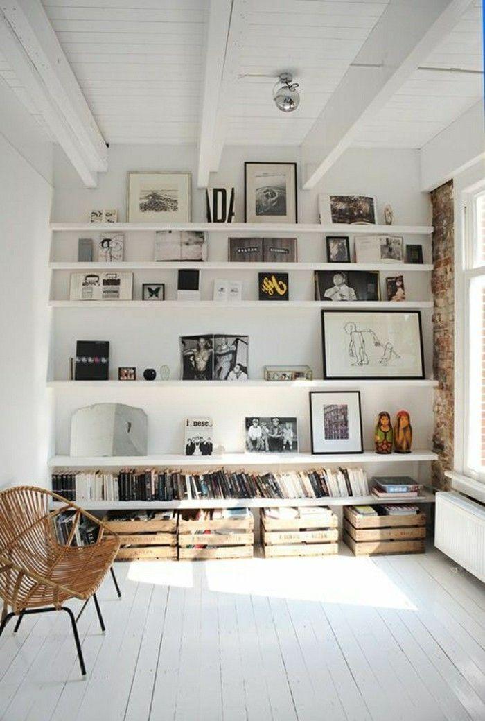L tag re biblioth que comment choisir le bon design shelves brick wall decorar - Comment choisir le bon tapis de salon ...