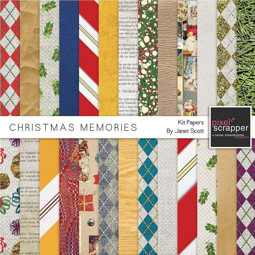christmas memories  paper kit  christmas memory
