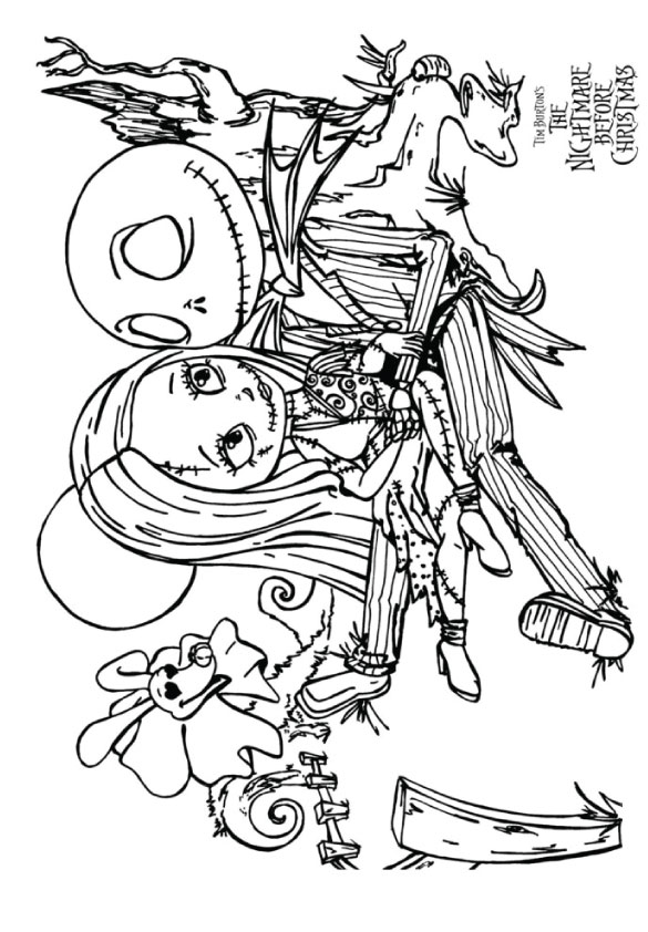 Jack And Salllly Para Colorear Halloween Coloring Pages