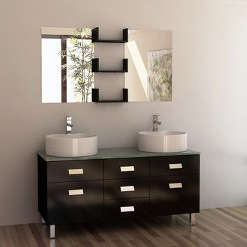 Like The Shelves Between 2 Mirrors Idea Double Vanity Bathroom Double Sink Bathroom Vanity Bathroom Vanity