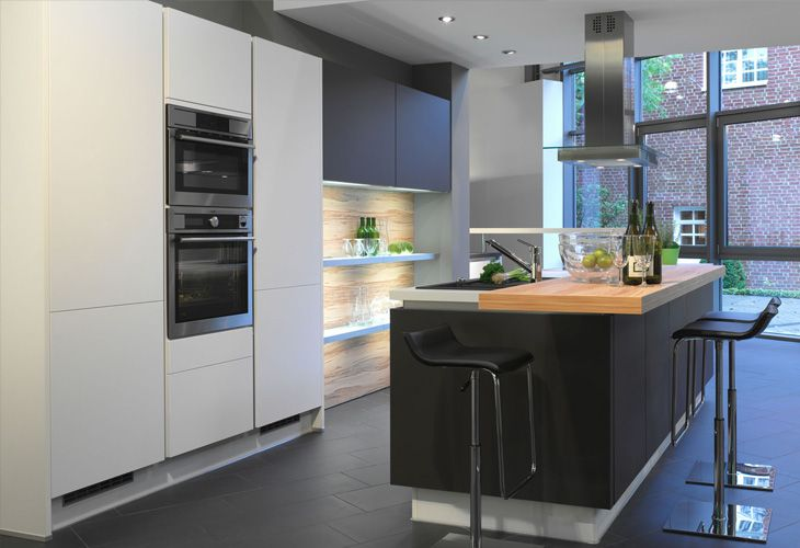 Kücheninsel Ideen ~ Küche in anthrazit kücheninsel dyk kuechen küche