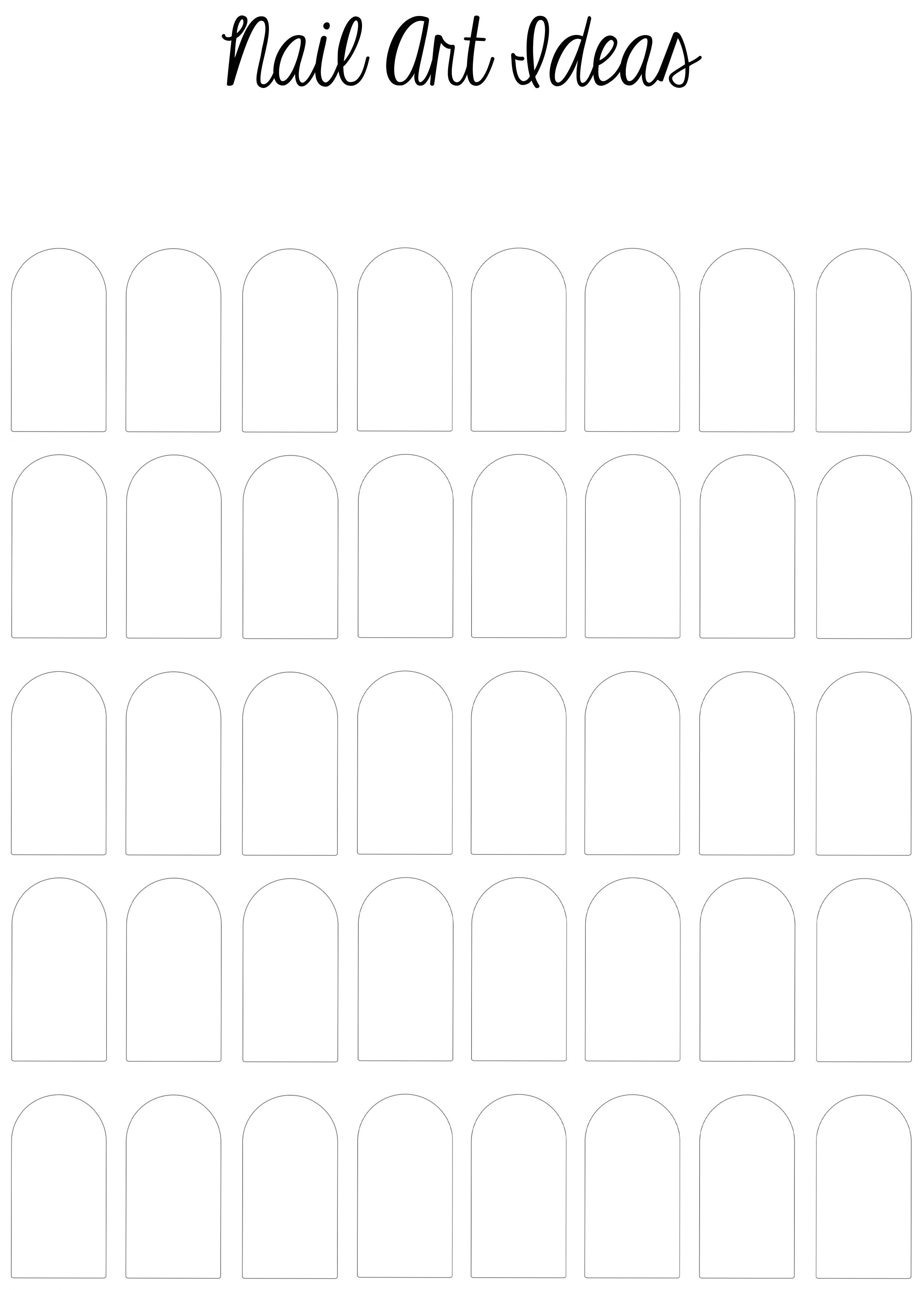 I made a Printable Nail Art Template! | Sketch pad and Art sketches
