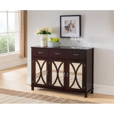 Home Mirrored Cabinet Doors Contemporary Buffets And Sideboards