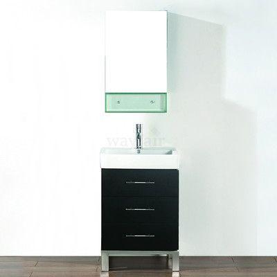 "Bauhaus Bath Kinsa 22"" Single Bathroom Vanity Set with Mirror Base Finish:"