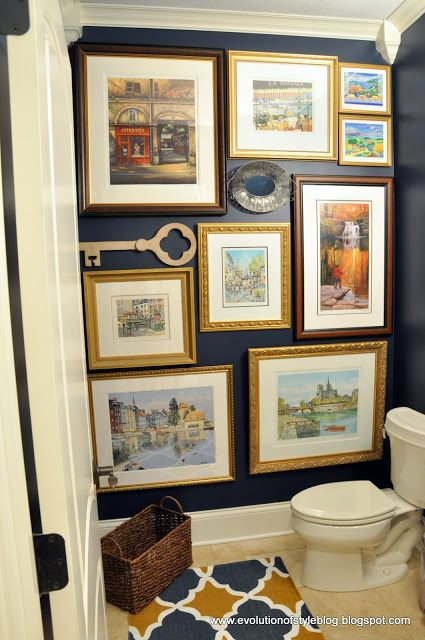 framed art arrangement for a small wall in a small room | Gentlemans ...