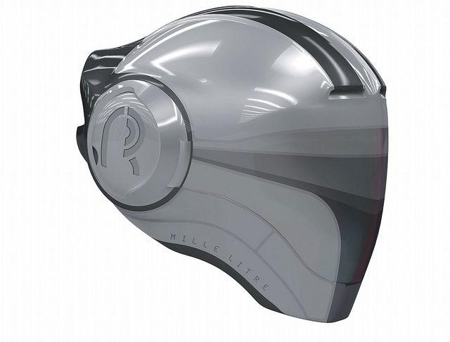 Del Rosario's design. Like silverhawk helmets