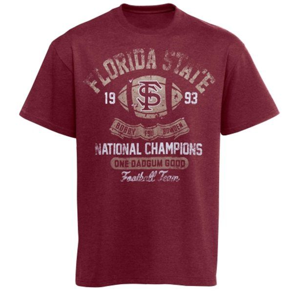 a89214bc7 Florida State Seminoles (FSU) Bobby Bowden Retro Tri-Blend T-Shirt ...