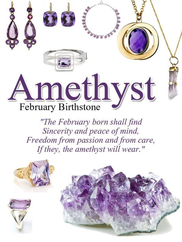 Amethyst Birthstone Of February Color Plum Violet
