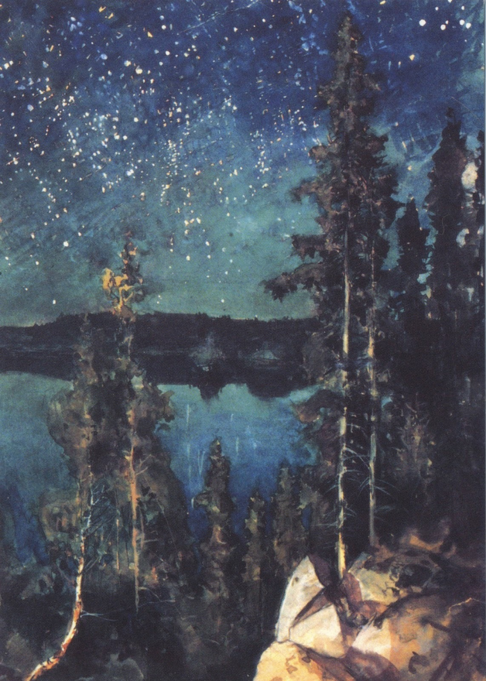Pin By Tomek Mazur On Dungeon Black Art In 2020 Landscape Paintings Night Art Scandinavian Art