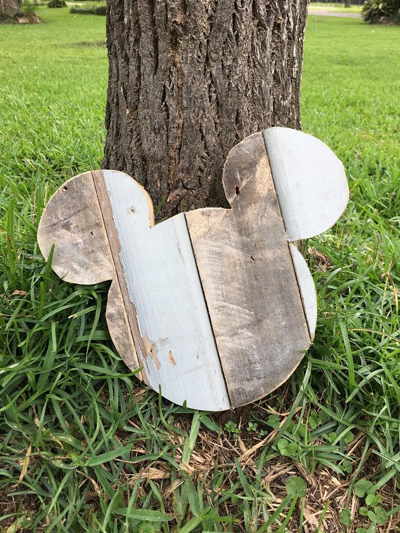Farmhouse Style Art Wooden Mickey Mouse Wall Hanging Nursery
