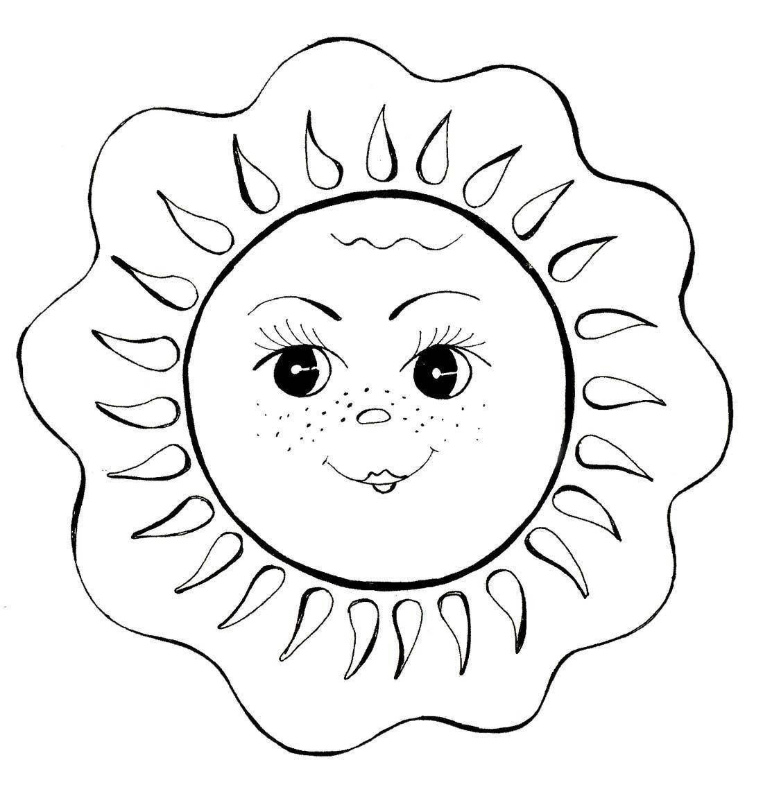раскраска солнышко солнце раскраски обои и поделки