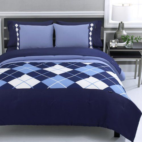 67 90 Beverly Hills Polo Club Argyle 3 Piece Full Queen Comforter Set Navyfrom Beverly Hills Polo Club Home Decor Queen Comforter Sets Comforter Sets