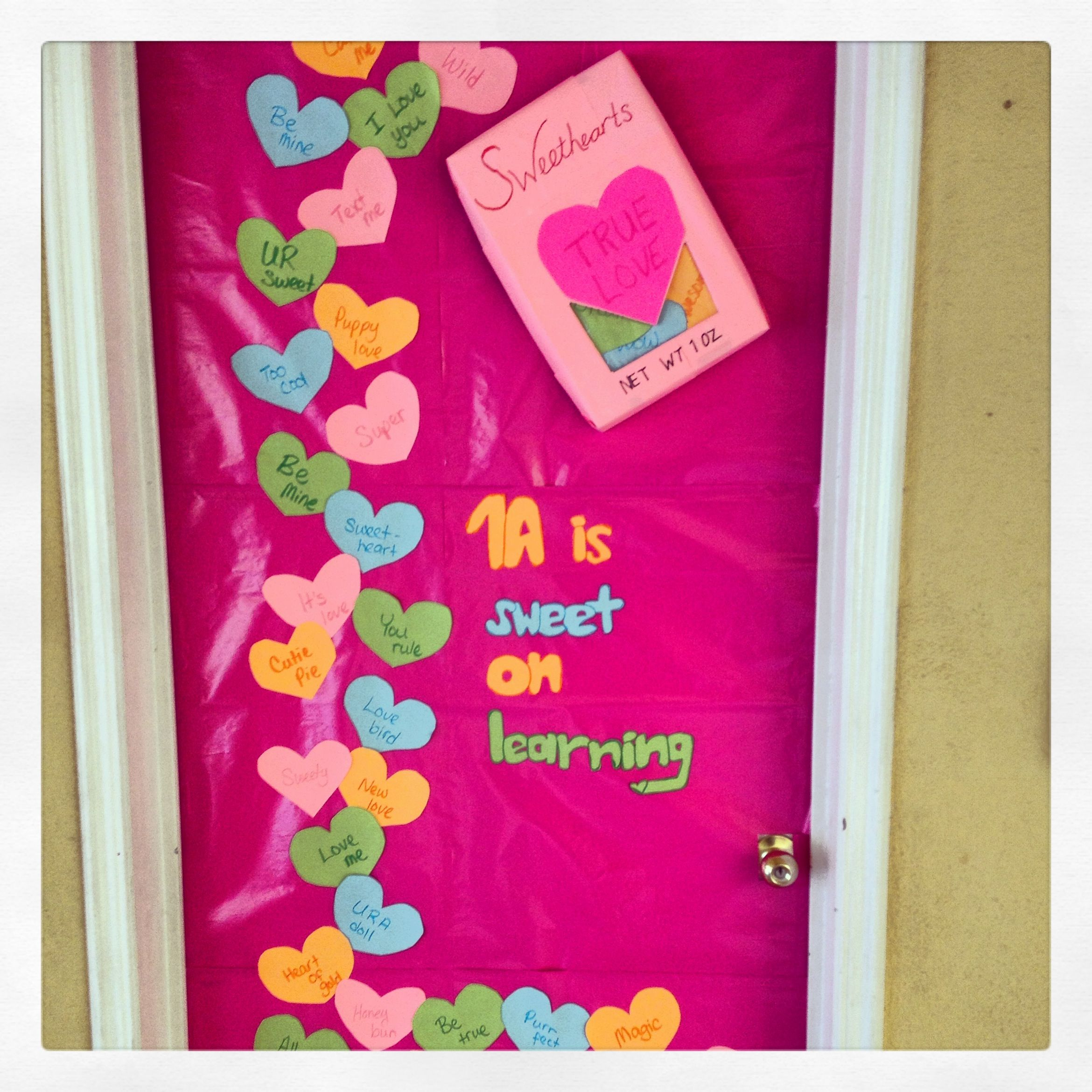 decorate school door for valentine | valentines day door