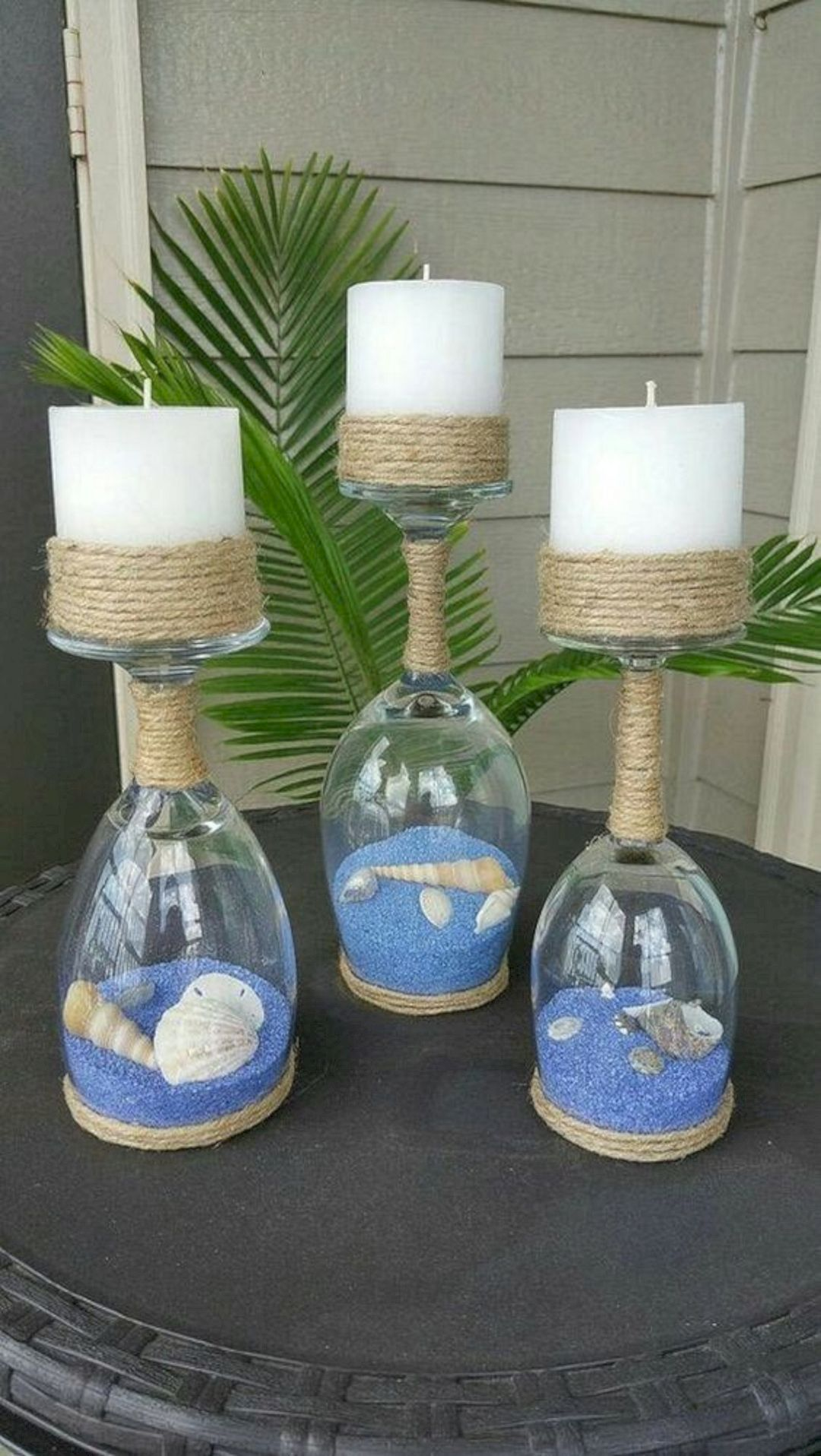 Pin By Lottie Huffman On Shante Harrison S Wedding In 2020 Diy Wedding Decorations Centerpieces With Wine Glasses Wine Glass Centerpieces