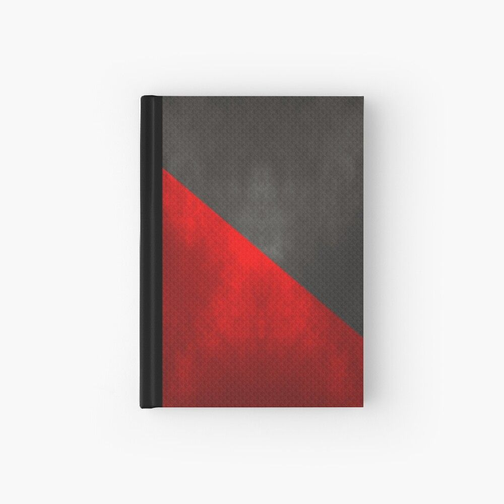 Anarcho Syndicalism Flag Lit And Textured Hardcover Journal By Solarcross Hardcover Journals Journal Design Hardcover