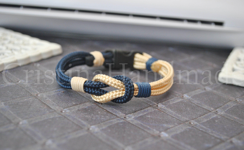 Sailor knot Nautical bracelet | mens bracelet | blue beige paracord bracelet | sailor bracelet | nautische armband | pulsera hombre #sailorknot Sailor knot Nautical bracelet mens bracelet blue beige | Etsy #sailorknot