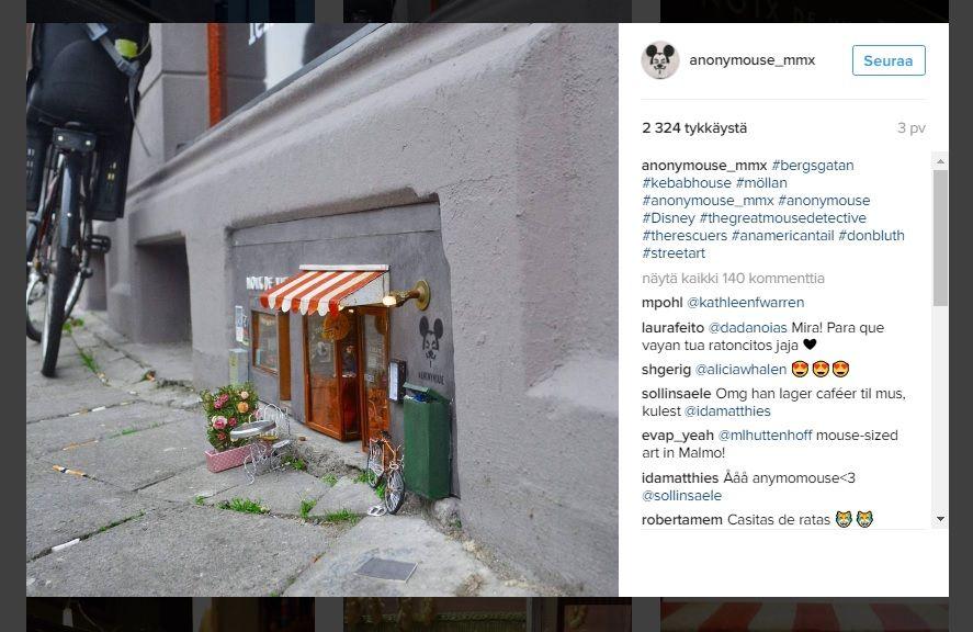 Taitelijaryhmä+tekee+suloisia+myymälöitä+hiirille+Ruotsissa+–+katso+kuvat