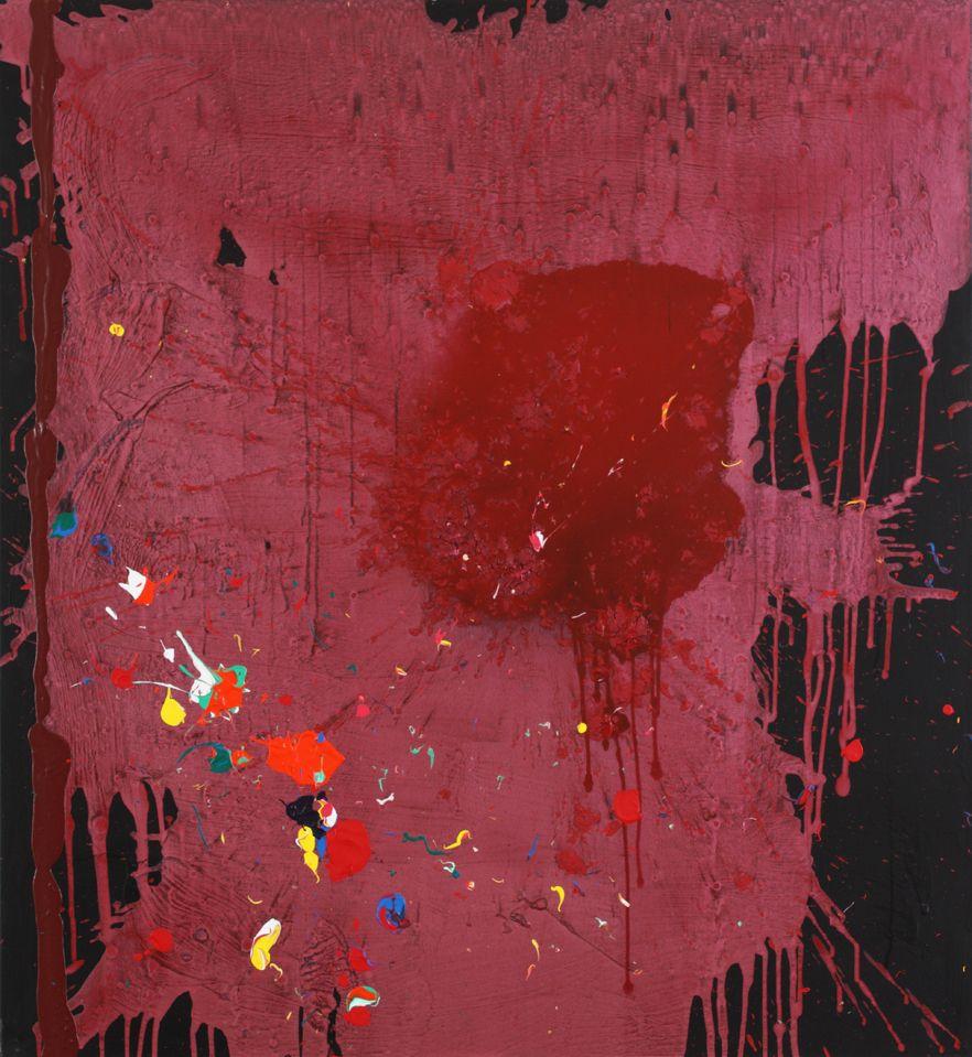 The Bleeding Heart  13-11-08, John Hoyland, acrylic on canvas, 152 x 140