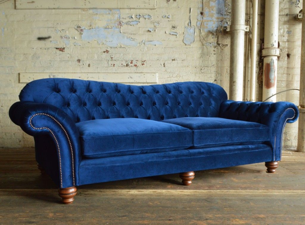 Navy Blue Chesterfield Sofa | MODERN SOFA | Pinterest | Chesterfield ...