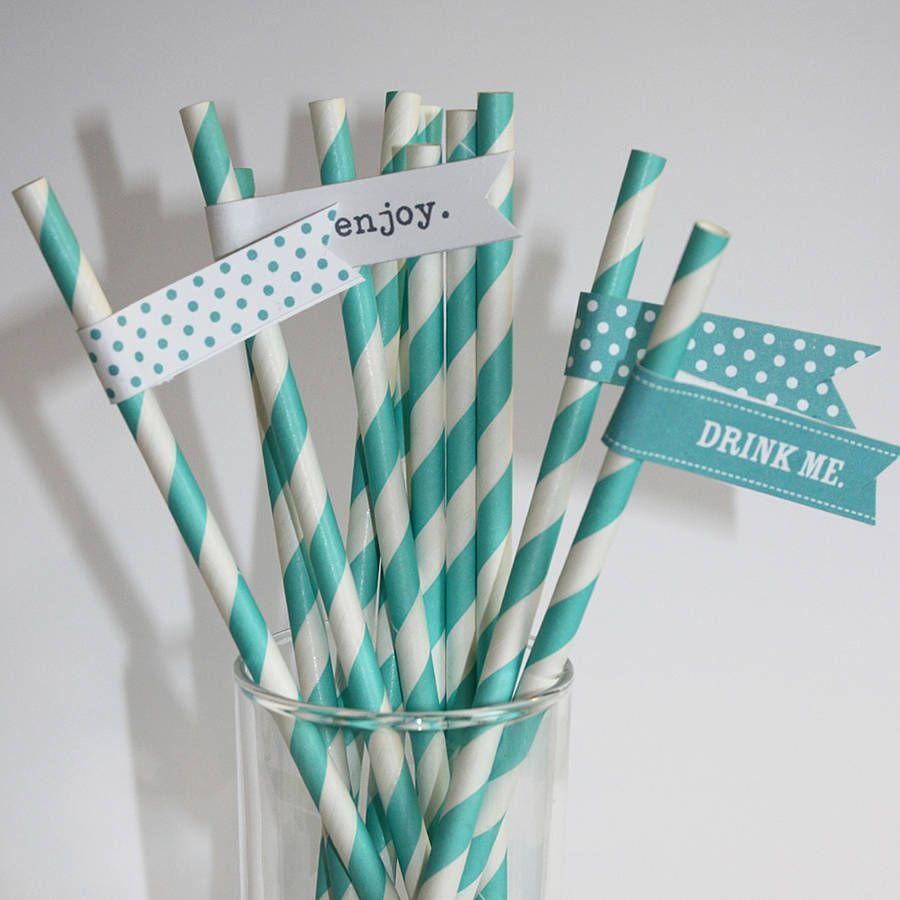 decorative straws for weddings aqua stripey paper straws for wedding decor board of the 3463