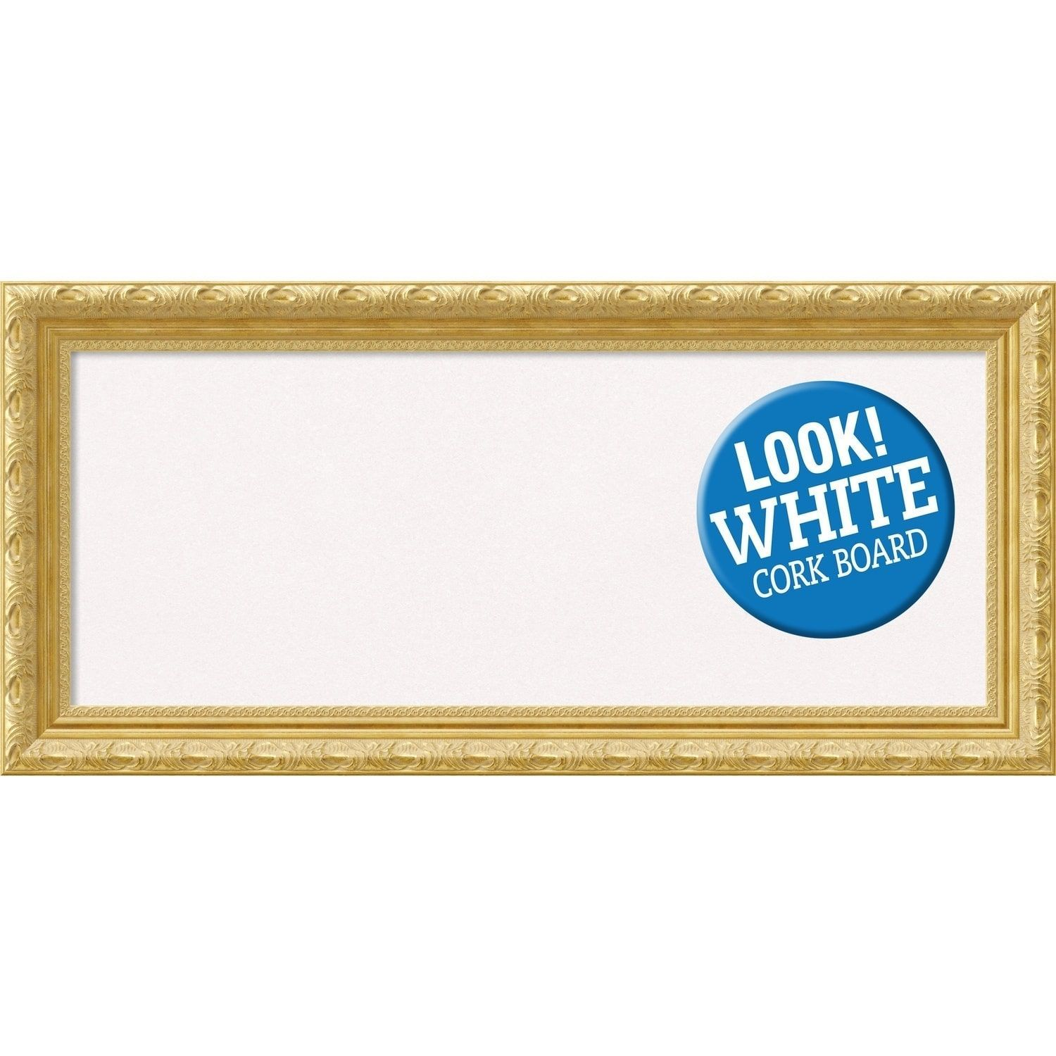 Amanti Art Framed White Cork Board, Versailles Gold (small - 22 x 16 ...