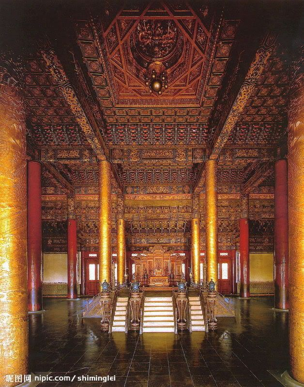 Forbidden City Palace Interior Dated Back To Ming Dynasty Chinese Architecture Palace Interior Asian Architecture