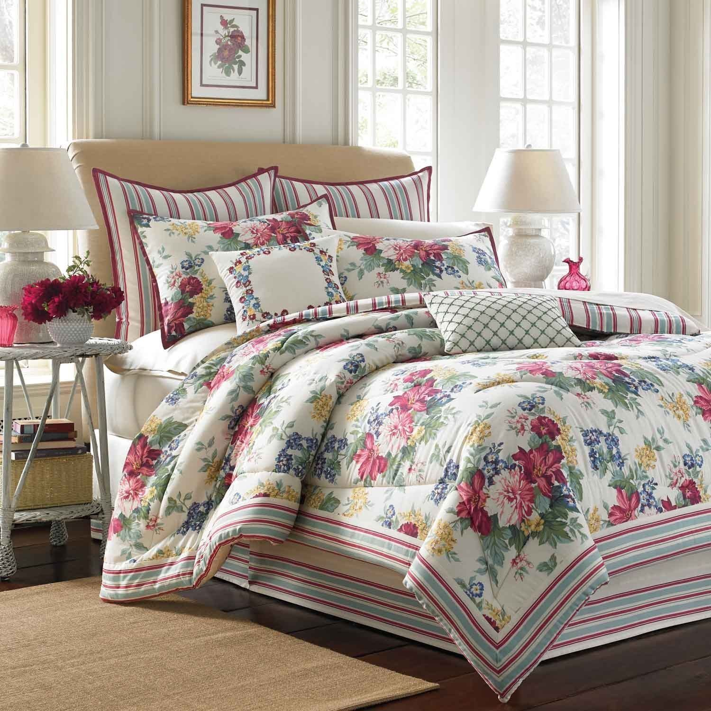Laura Ashley Melinda 4-piece Comforter Set With European