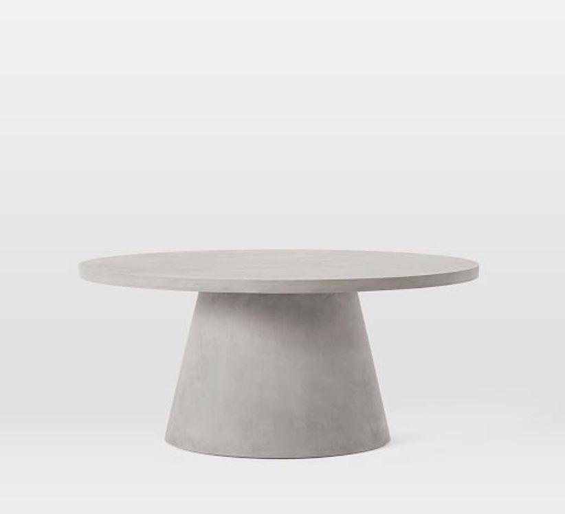 Pedestal Outdoor Coffee Table In 2021 Outdoor Coffee Tables Dining Table Marble Concrete Coffee Table