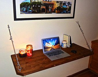 Floating Desk Wall Mounted Desk by SawdustOnMySandals on Etsy ...