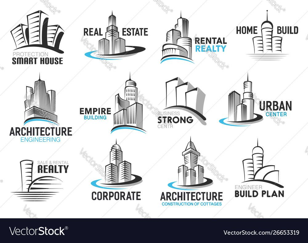House home and skyscraper buildings real estate Vector