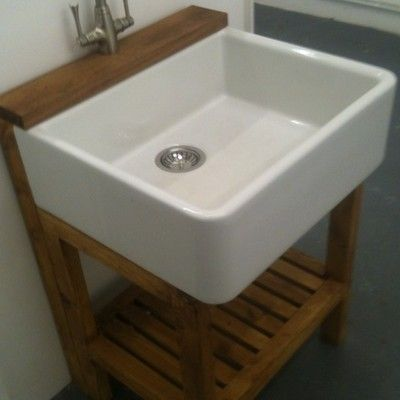 Traditional Wooden Stand For Belfast Butler Sink With Tap