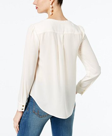 2bb03f98a4795 INC International Concepts Lace-Up Top
