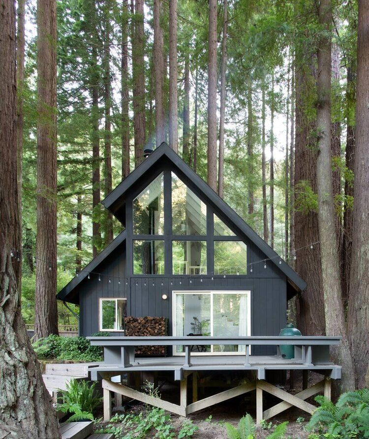 A Black and White A Frame Cabin in California — THE NORDROOM