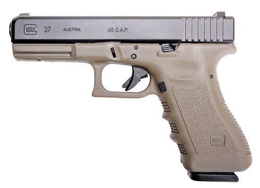 Glock 37(desert frame and grip) - Full sized pistol chambered for ...