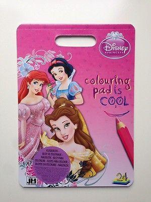 Disney Princess Malbuch mit Sticker Buch Malen Geschenk Geburtstag Mitbringsel
