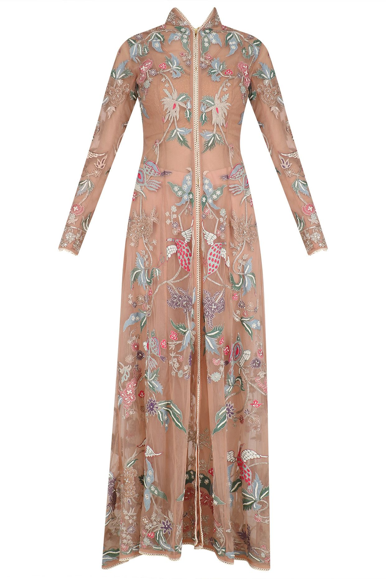 a9bc5f544 Old rose embroidered long jacket, dhoti pants and blouse set available only  at Pernia's Pop Up Shop.