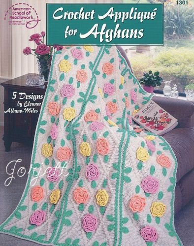 Crochet Applique For Afghans Afghan Crochet Patterns Ebay
