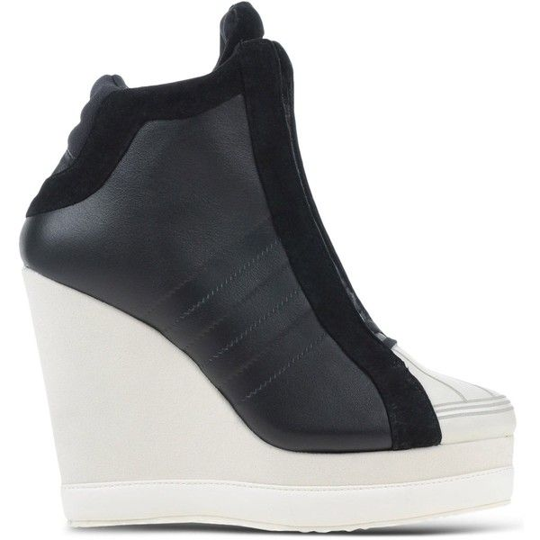 67c8d56f4cfd Adidas Originals High-Tops   Trainers (£68) ❤ liked on Polyvore featuring. Wedge  ShoesBlack ...