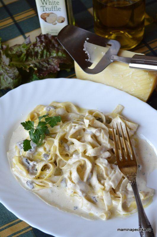 Паста с грибами в сливочном соусе. Пошаговый рецепт с фото ...
