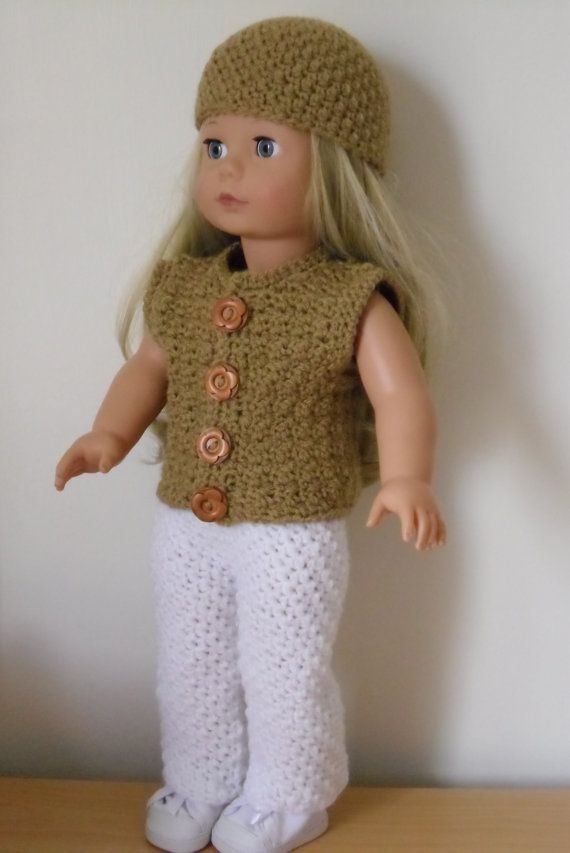 Crochet Pattern For Waistcoat Trousers And Hat For 18 Inch Doll